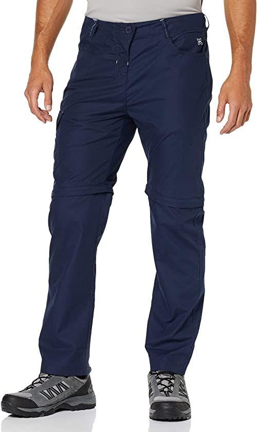 Trespass męska rambler cabrio wodoodporne spodnie z ochroną UV i odpinanymi nogawkami granatowy S