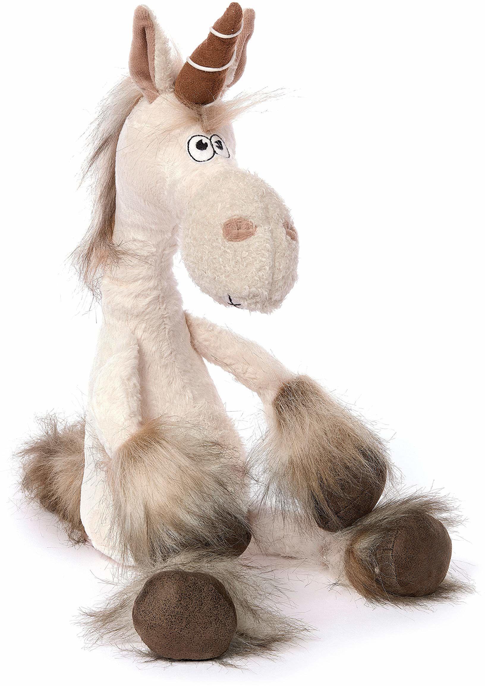 sigikid Beasts przytulanka dla dorosłych i dzieci, jednorożec Uni Que, biała/brązowa, 38488