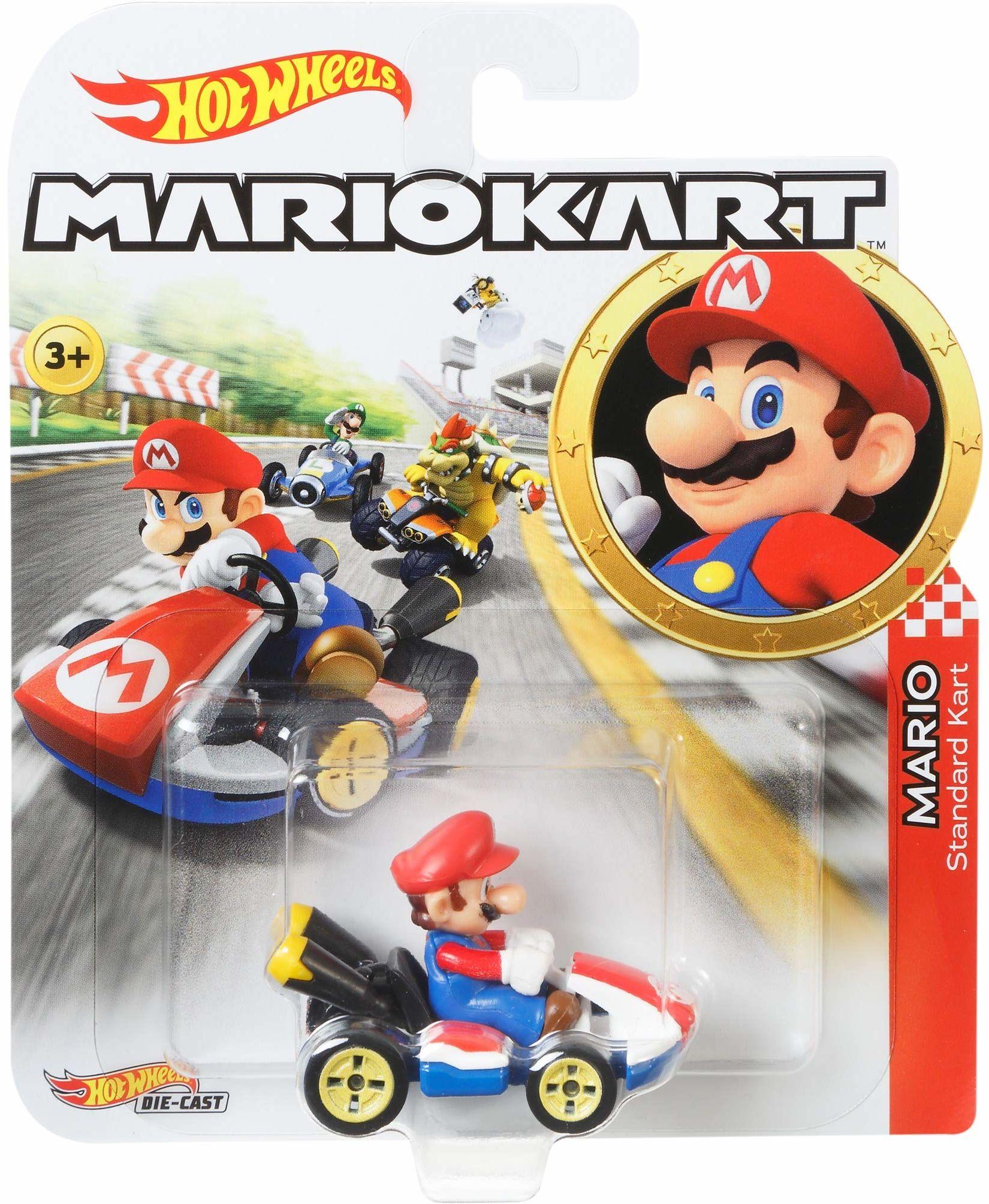 Hot Wheels GBG26 - Mario Kart Replica 1:64 Die-Cast samochód zabawkowy Mario, zabawka od 3 lat