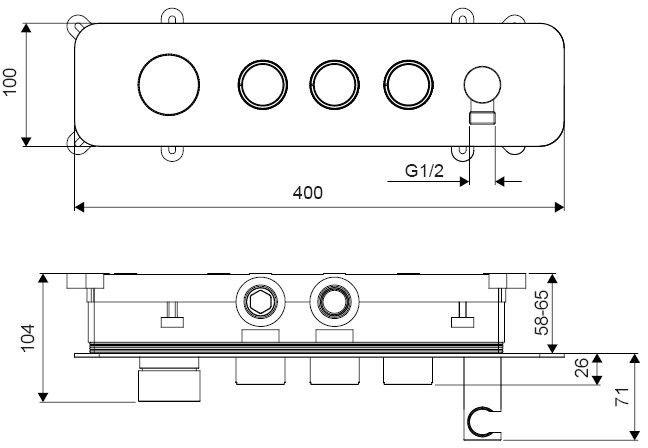 EXCELLENT - Bateria wannowo-prysznicowa podtynkowa Krotos 3-funkcyjna - ZNALAZŁEŚ TANIEJ? ZADZWOŃ 726 713 313