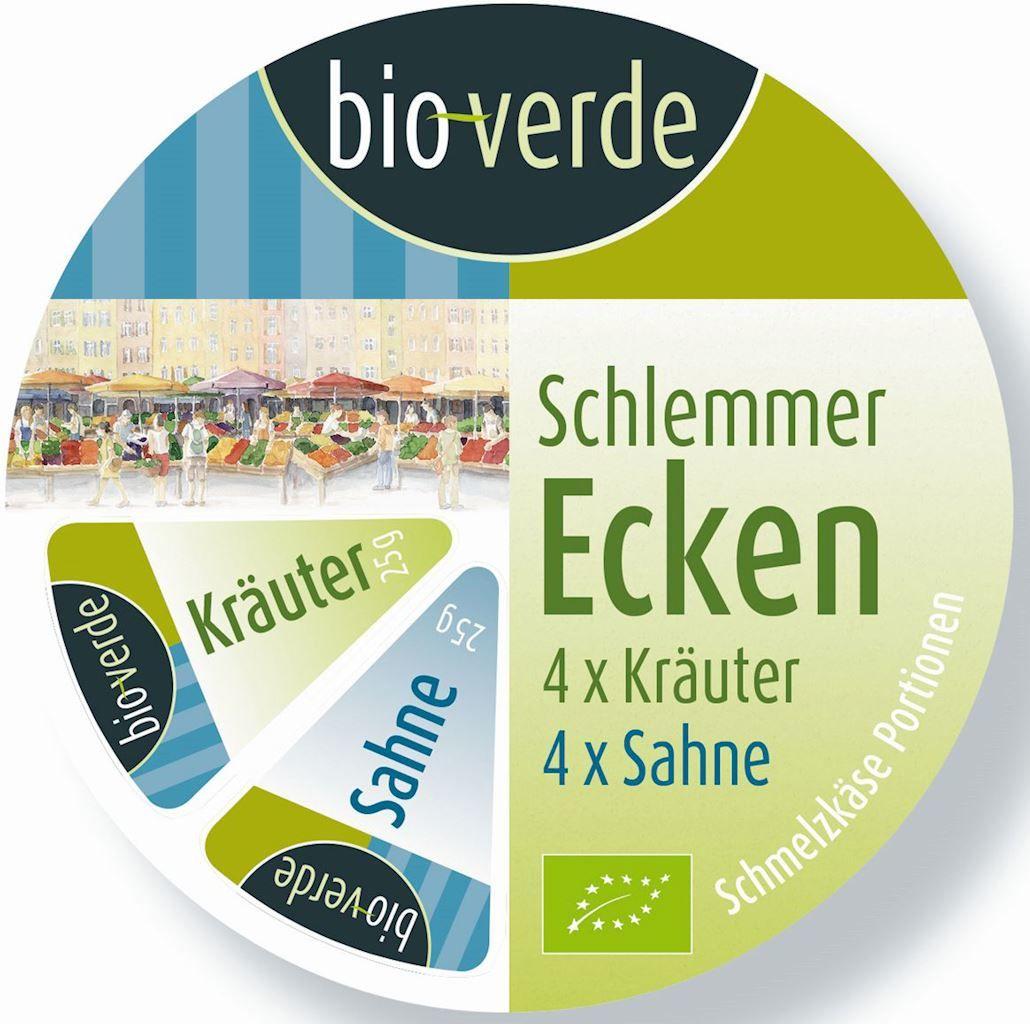 Serki topione śmietankowo-ziołowe bio 8 x 25 g - bio verde