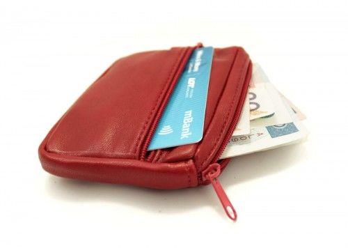 Praktyczny mały portfelik, portmonetka z etui na klucze