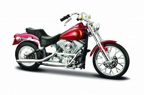 Maisto Motocykl HD 1984 FXST Softail 1/18 Czerwony