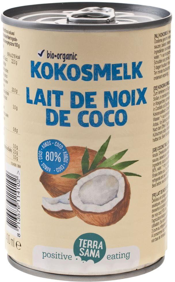 Coconut milk - napój kokosowy bez gumy guar w puszce 22% tłuszczu bio 400 ml - terrasana