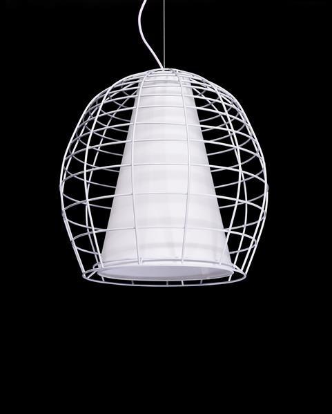 Lumina Deco Bolzano nowoczesna biala lampa wisząca