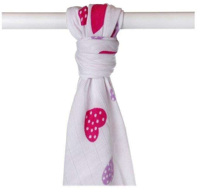 Ręcznik bambusowy XKKO BMB 90x100 - Lilac Hearts