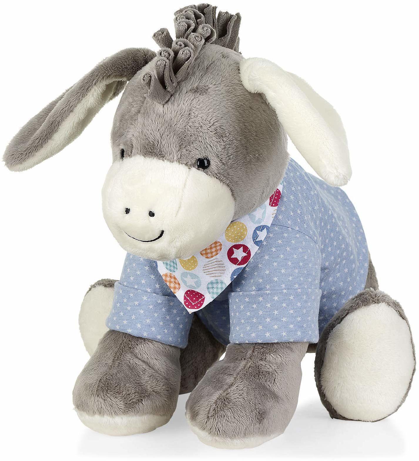 Sterntaler Zwierzęk do zabawy gwiazdka Emmi, dla niemowląt od urodzenia, 37 cm, szary/jasnoniebieski, 3022000, L