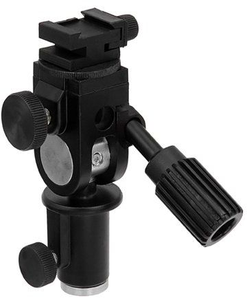 Fotodiox Ultra Heavy Duty Flash Umbrella Bracket with Swivel/Tilt Head, Mountable to Light Stand and Tripod-Fits Olympus Flash FL-36R, FL-50R, Panasonic Flash DMW-FL360 and FL-500