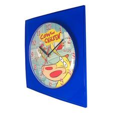 Zegar dla dzieci Cow & Chicken kwadrat