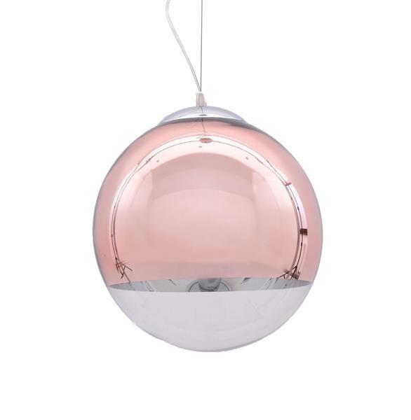 Lumina Deco Ibiza różowe złoto nowoczesna lampa wisząca