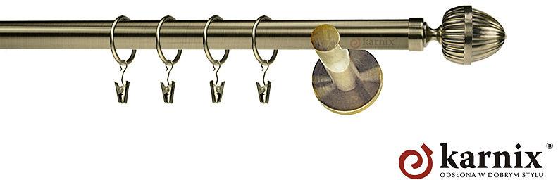 Karnisze nowoczesne NEO pojedynczy 19mm Milano antyk mosiądz