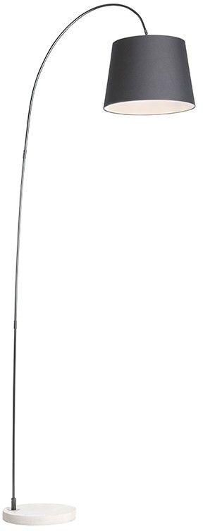 QAZQA Nowoczesna lampa łuk czarna - Bend