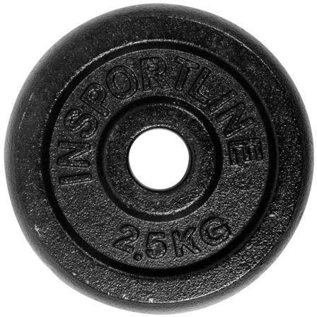 Obciążenie żeliwne Insportline Black (30 mm) 2,5 kg