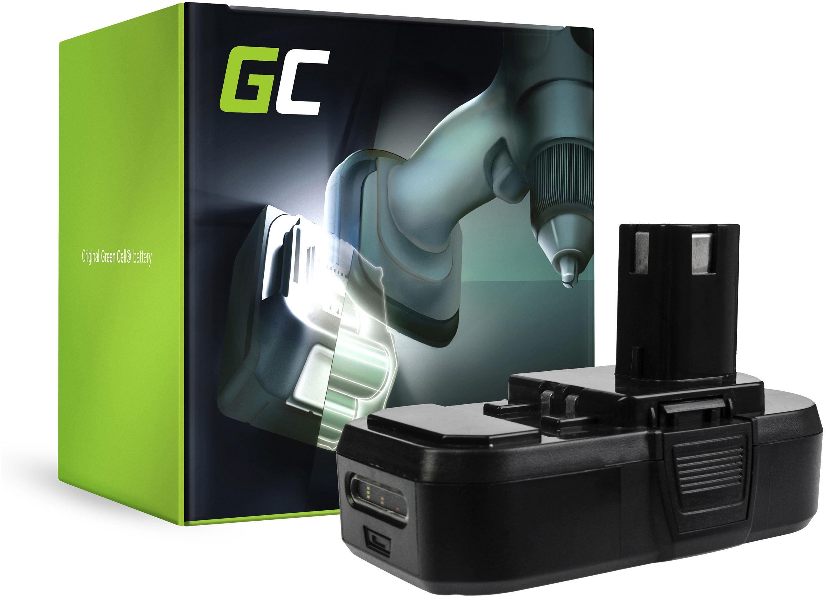 Bateria Green Cell (1.5Ah 18V) ONE+ P108 RB18L13 RB18L15 RB18L20 RB18L25 RB18L50 do RYOBI BCL14181H R18DD3 R18IW3 R18IW3-0