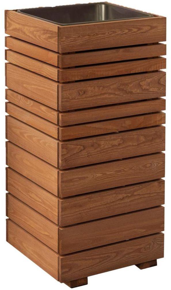 Donica ogrodowa GOTEBORG 41 x 41 x 90 cm drewniana wysoka WERTH-HOLZ