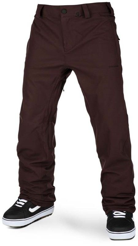 spodnie VOLCOM - Freakin Snow Chino Black Red (BRD)