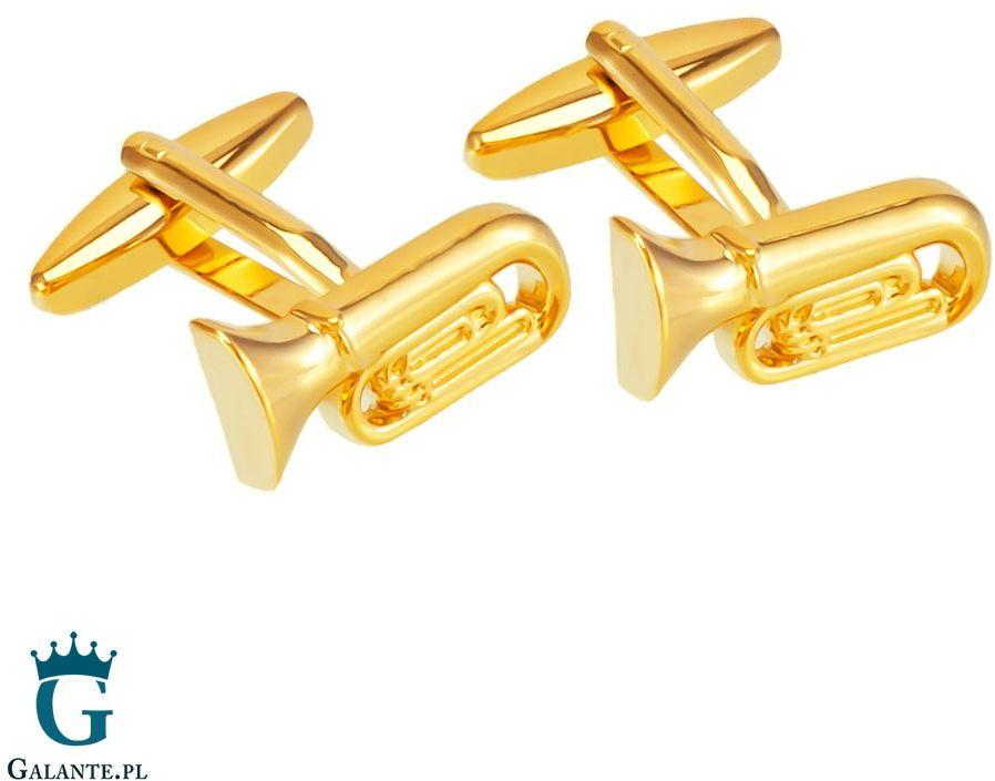 Spinki do mankietów złota tuba x2 aj134