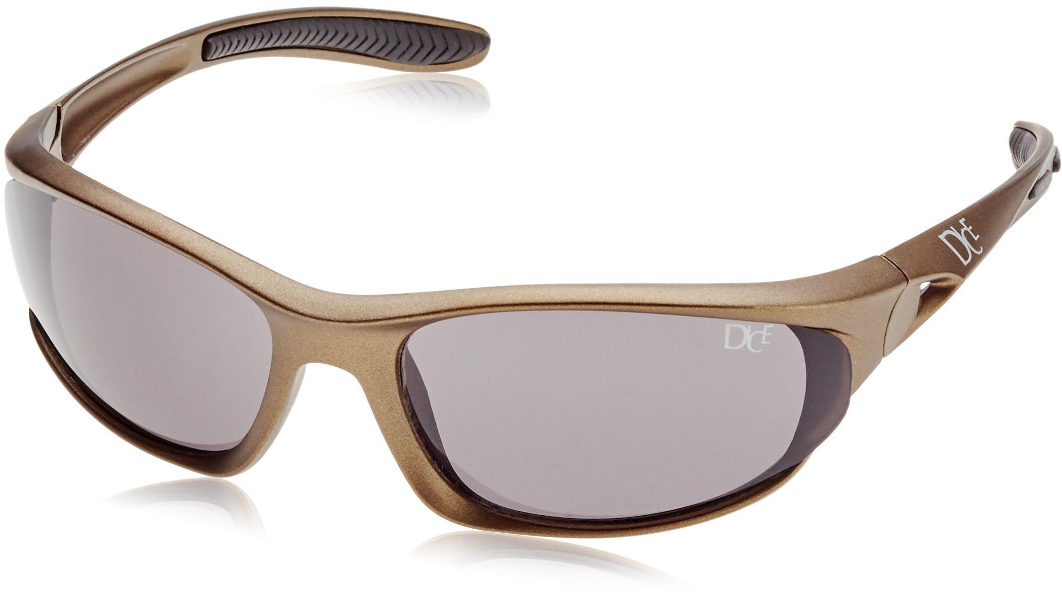 Dice Męskie sportowe okulary przeciwsłoneczne, matowe brown, D03928-3
