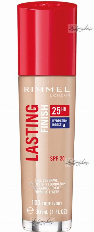 RIMMEL - LASTING FINISH 25HR - Podkład długotrwały z efektem nawilżenia - 30 ml - 103 - TRUE IVORY