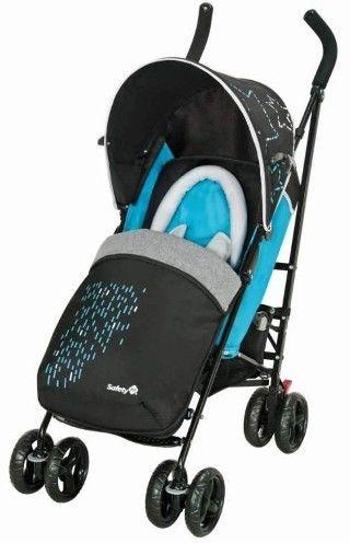Safety 1st Slim City wózek spacerowy +torba+śpiworek niebieski