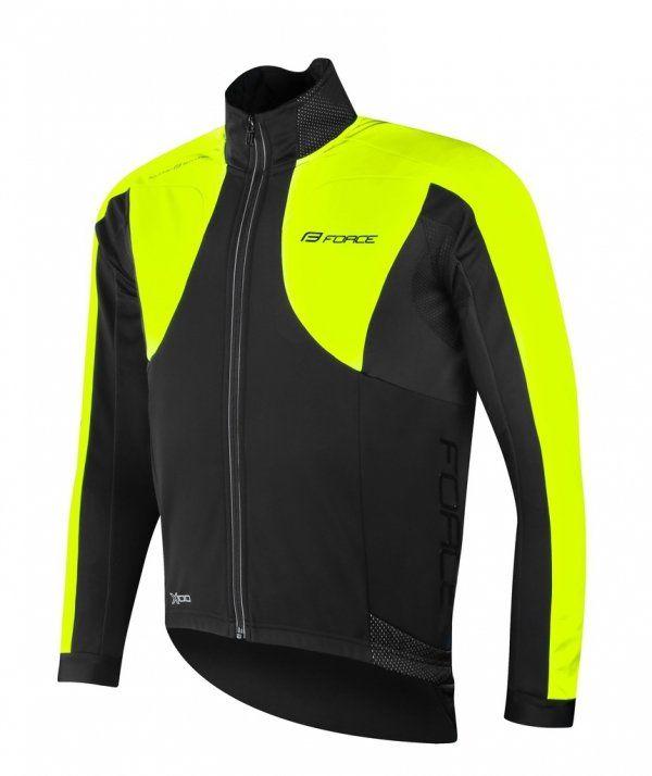 FORCE X100 zimowa kurtka rowerowa czarny fluor żółty 899860 Rozmiar: M,force x100 czarfluo