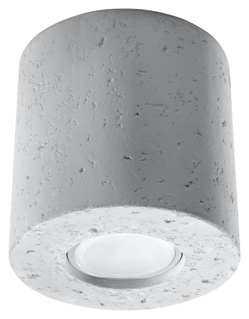 Tuba natynkowa betonowa ORBIS szara 10cm Gu10 SL.0488 - Sollux // Rabaty w koszyku i darmowa dostawa od 299zł !
