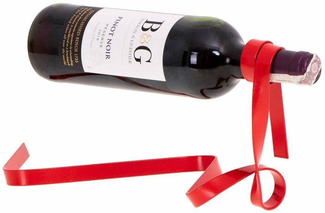 Stojak na wino Wstążka - czerwona