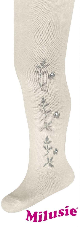 rajstopy bawełniane milusie jety eleganckie białe wzór6 Model 15