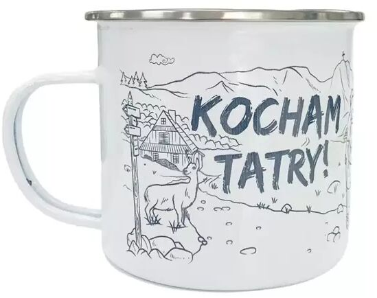 Kubek emaliowany - Kocham Tatry! - TravelSet