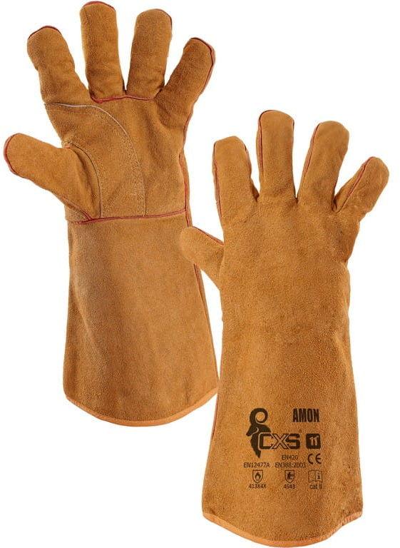 Rękawice robocze AMON spawalnicze CXS