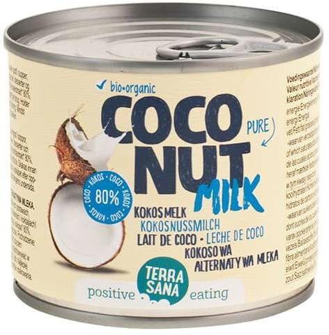 Coconut milk - napój kokosowy bez gumy guar w puszce 22% tłuszczu bio 200 ml - terrasana