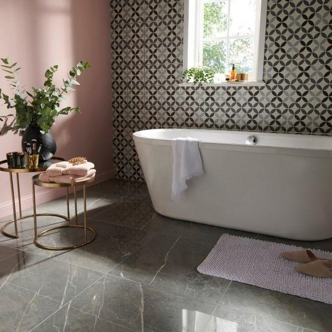 Płytka podłogowa Ultimate Marble Colours 59,5 x 59,5 cm grey polerowana 1,06 m2