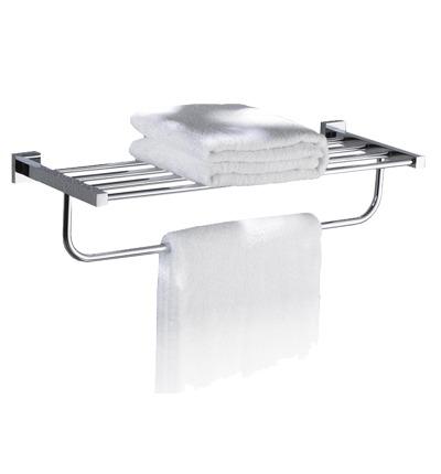 Omnires Lift półka żeberkowa z wieszakiem na ręcznik chrom 8162ACR