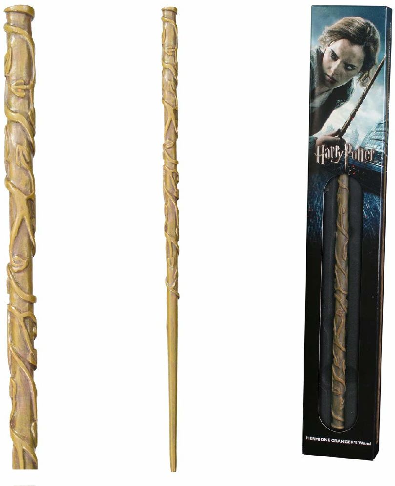 The Noble Collection - Hermione Granger Wand In A Standard Windowed Box - 15in (38cm) High Quality Wizarding World Wand - Harry Potter Film Set Movie Props Wands