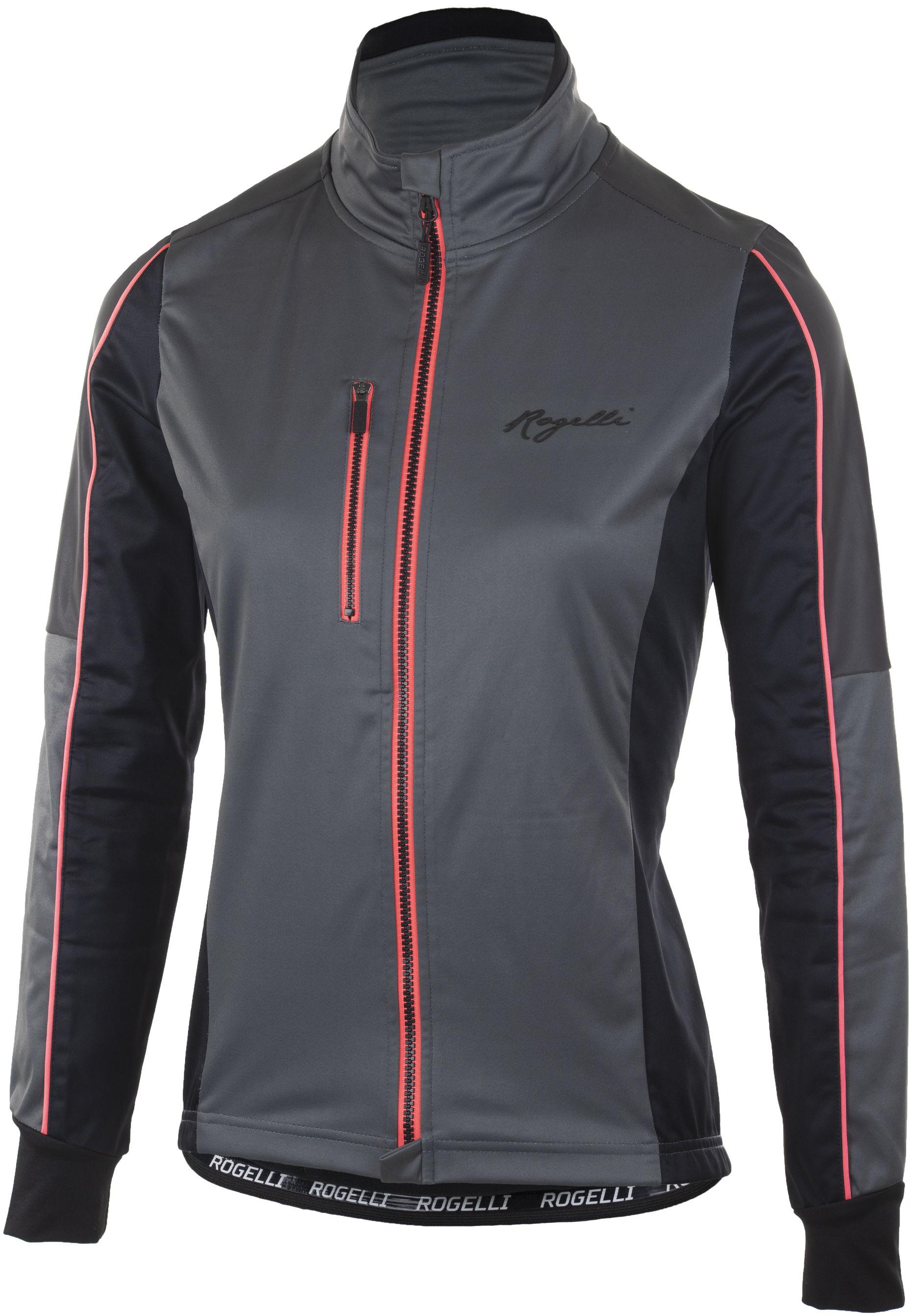 ROGELLI SHINE lekko ocieplana damska kurtka rowerowa 010.370 szaro różowa Rozmiar: M,010.370