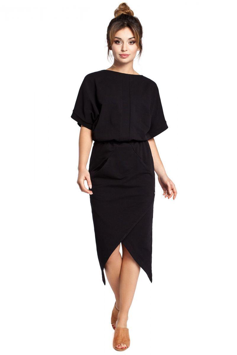 B029 sukienka czarna