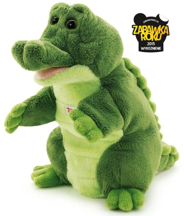 Pluszowa pacynka na rękę, przytulanka, Krokodyl Mil, 29918-Trudi, zabawa w teatrzyk