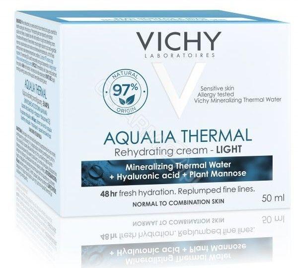 Vichy Aqualia Thermal Light lekki krem nawilżający do skóry wrażliwej, normalnej i mieszanej 50 ml