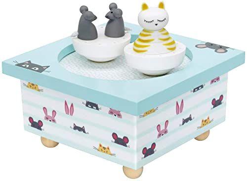 Trousselier Kot i mysz muzyczne drewniane pudełko