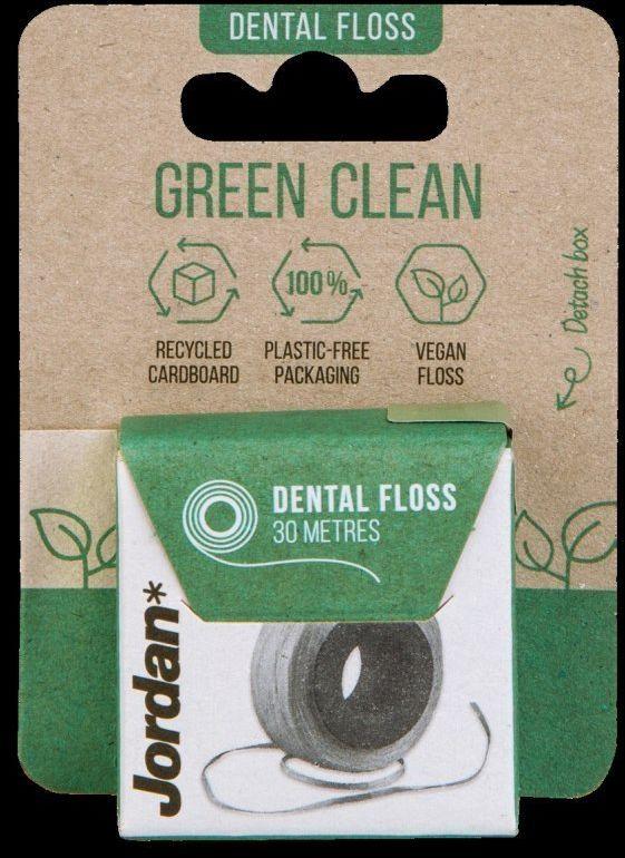 ORKLA Jordan Green Clean Nić dentystyczna w rolce 1szt-30m