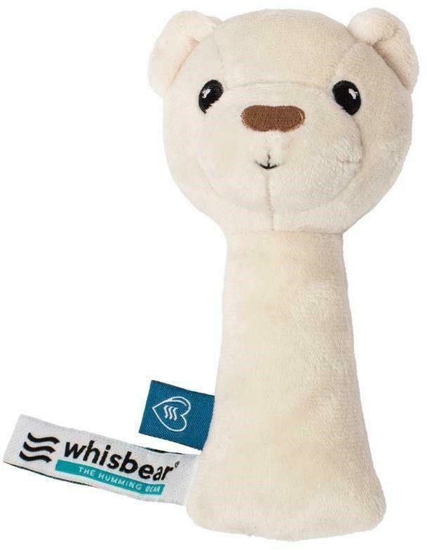 Whisbear - Grzechotka Miś - biały