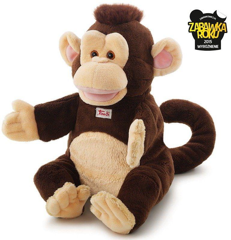 Pluszowa pacynka na rękę, przytulanka, Małpka Sing, 29967-Trudi, zabawa w teatrzyk