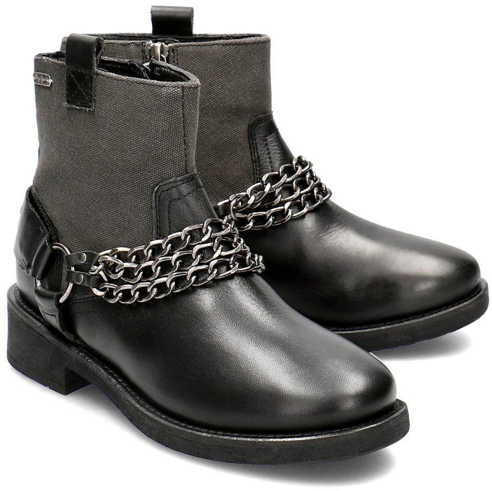 Pepe Jeans Maddox Chain - Botki Damskie - PLS50358 999