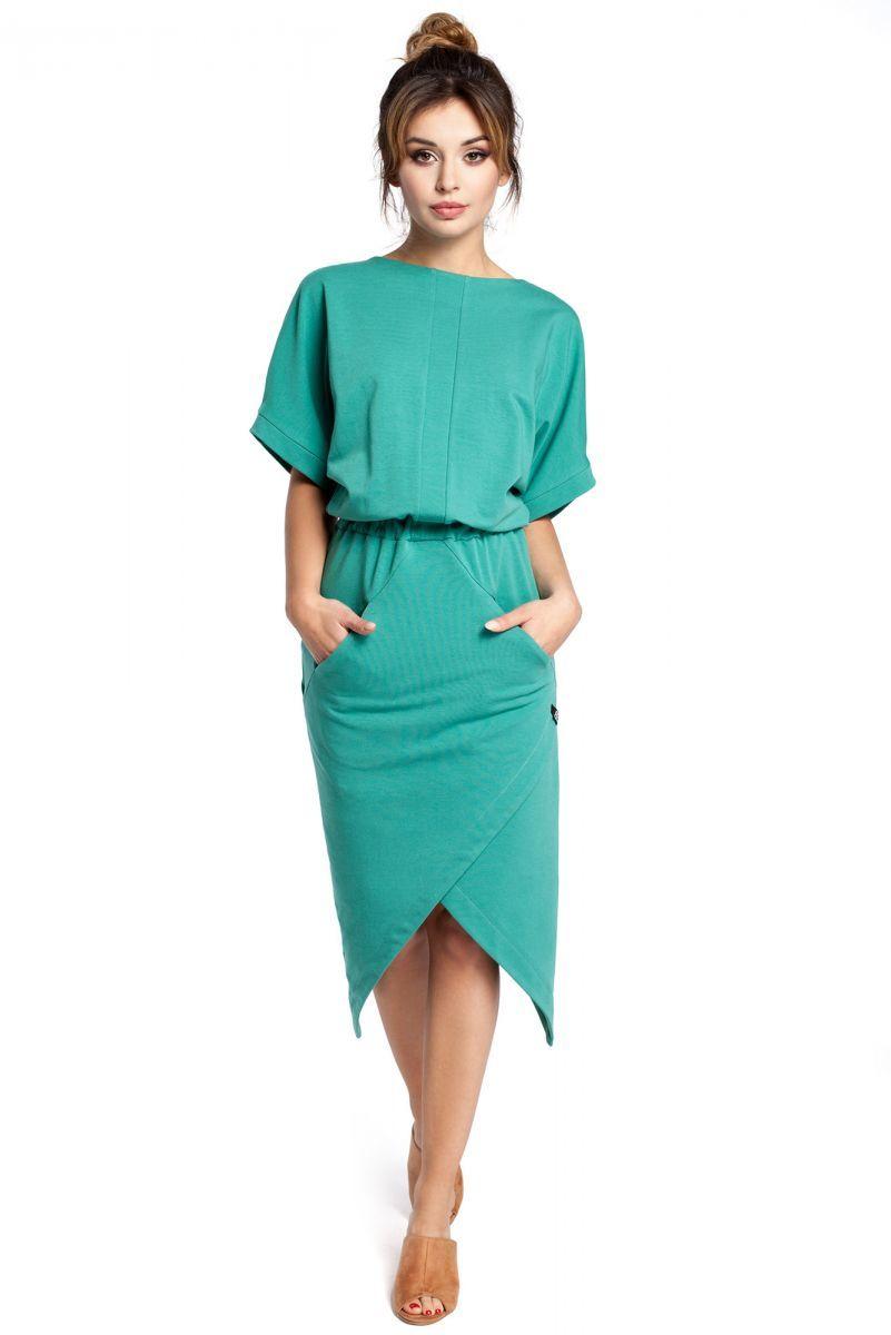 B029 sukienka zielona