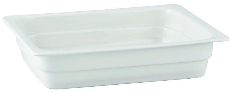 Pojemnik GN 1/2 gł. 2,2 cm porcelanowy biały RAK