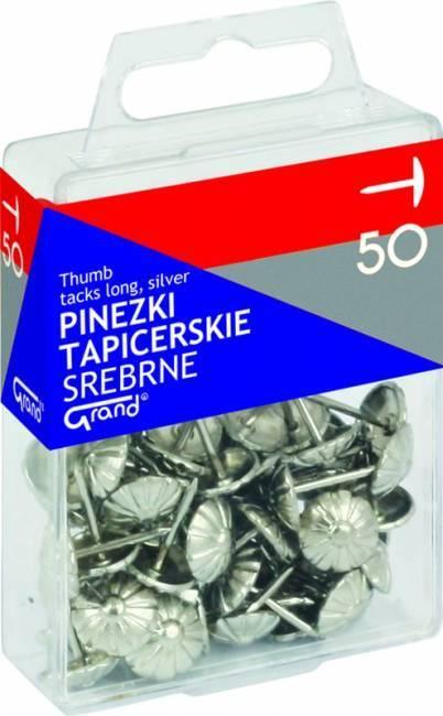 Pinezki tapicerskie srebrne (50) - X00808