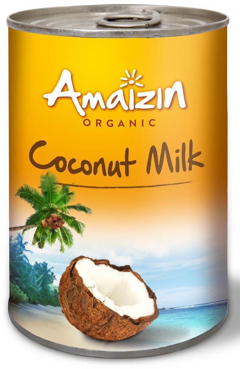 Coconut milk - napój kokosowy bez gumy guar w puszce 17% tłuszczu bio 400 ml - amaizin