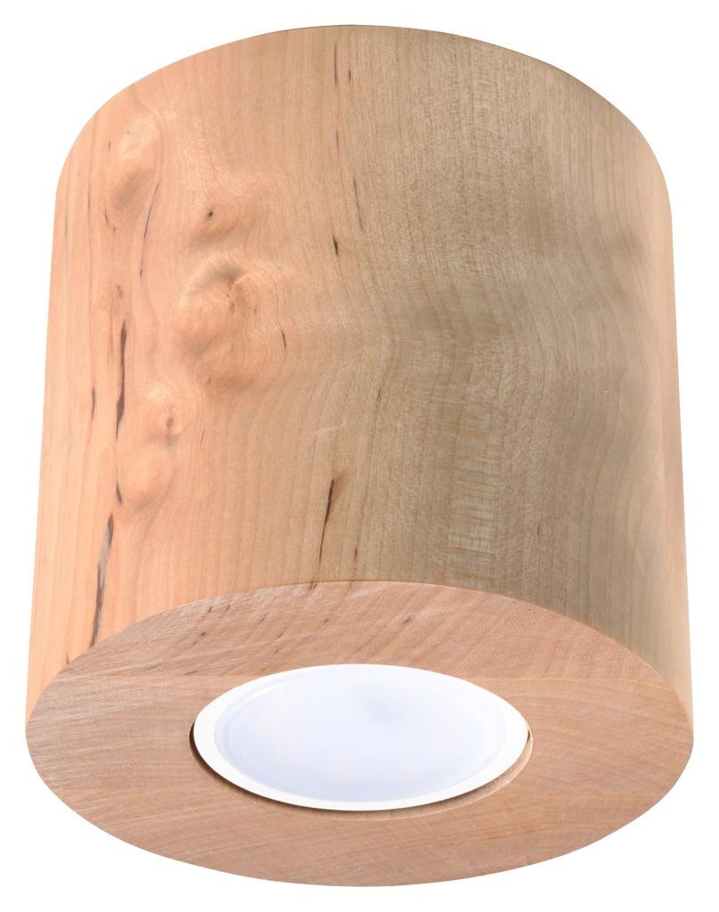 Tuba natynkowa drewniana Orbis skandynawska 10cm GU10 SL.0492 - Sollux Do -17% rabatu w koszyku i darmowa dostawa od 299zł !