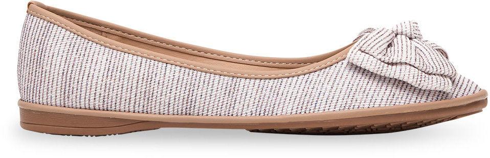 Balerinki damskie Ideal Shoes M-8805 Wielokolorowe
