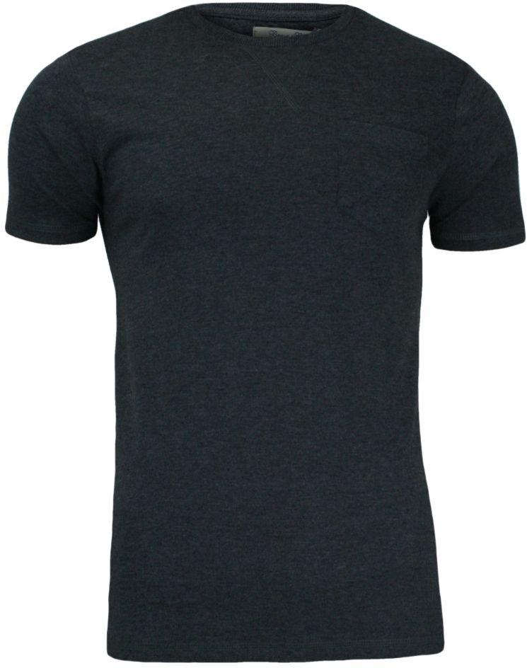 Ciemnoszary T-Shirt (Koszulka) z Kieszonką, Bez Nadruku - Brave Soul, Męski TSBRSSS16ARKHAMCHARCOAL